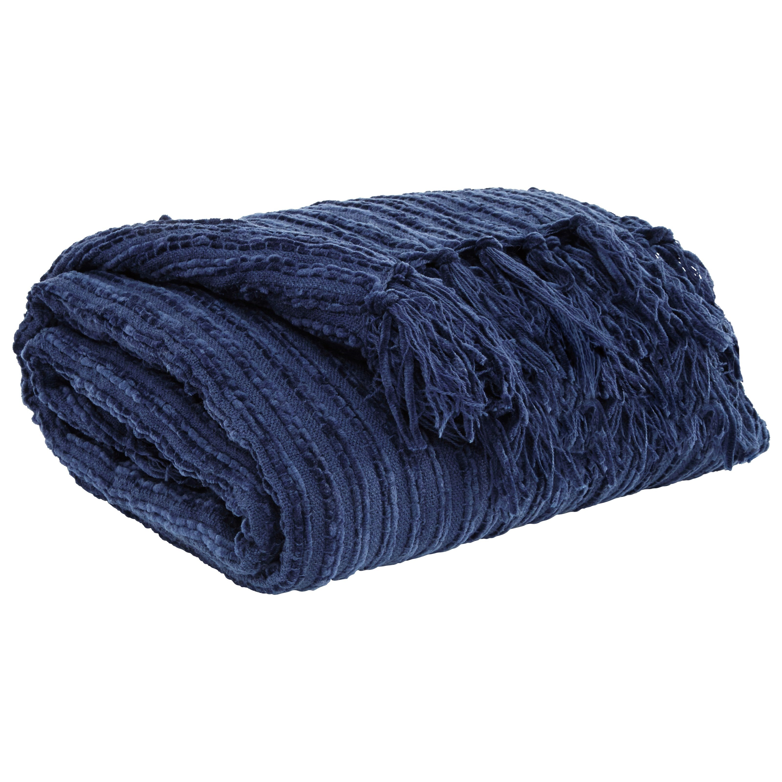 Signature Design by Ashley Throws Noland - Navy Throw - Item Number: A1000083T