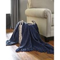 Signature Design by Ashley Throws Noland - Navy Throw