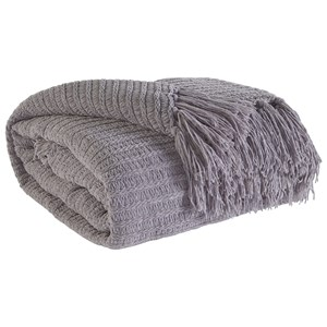 Signature Design by Ashley Throws Santino - Gray Throw
