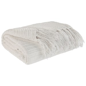 Signature Design by Ashley Throws Santino - Ivory Throw