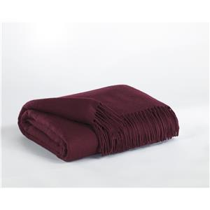 Signature Design by Ashley Throws Ashton - Burgundy Throw