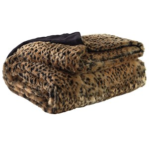 Signature Design by Ashley Throws Rolle - Faux Leopard Throw