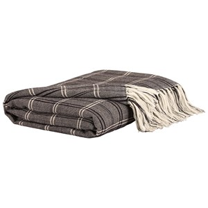Signature Design by Ashley Throws Luis - Black/Beige Throw