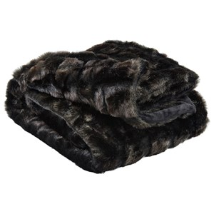 Signature Design by Ashley Throws Ambrea - Brown Faux Fur Throw