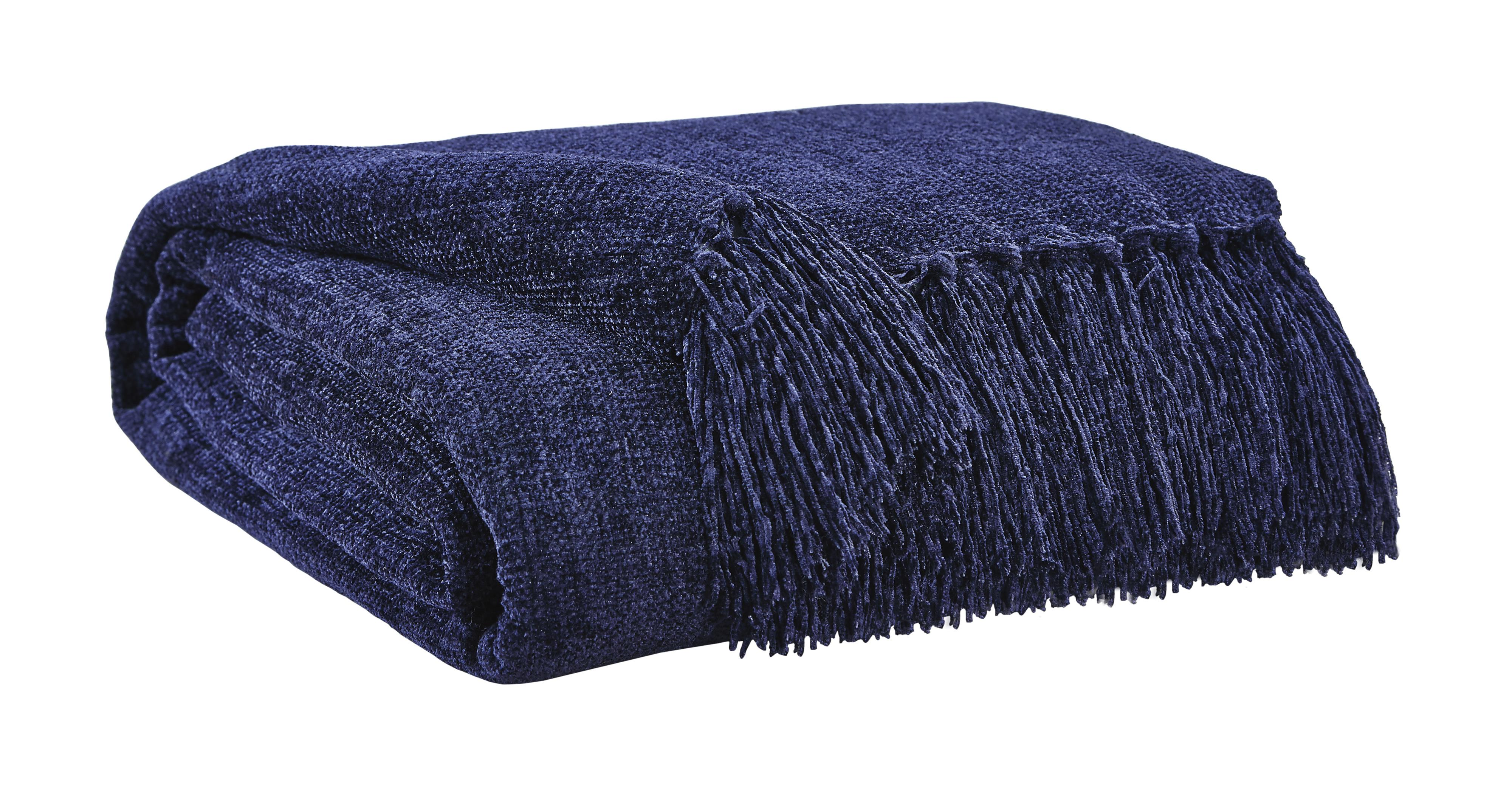 Signature Design by Ashley Throws Danicio - Navy Throw - Item Number: A1000525T