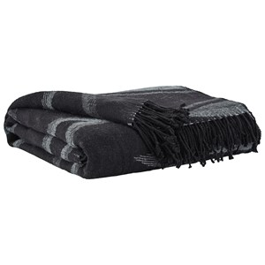 Cecile Black Throw