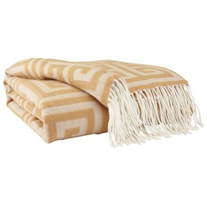 Signature Design by Ashley Throws Anitra - Gold Throw