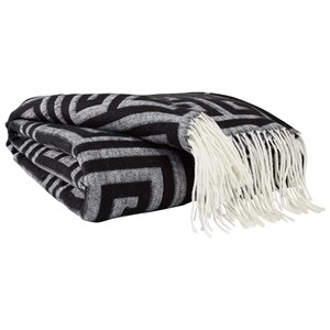 Signature Design by Ashley Throws Anitra - Black/Gray Throw