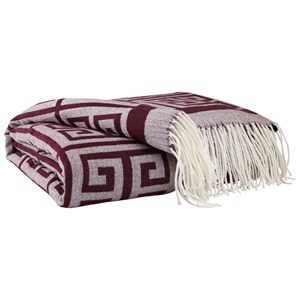 Signature Design by Ashley Throws Anitra - Plum Throw