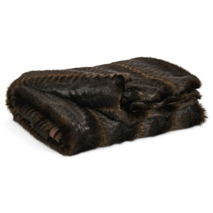 Jessen Brown/Black Faux Fur Throw