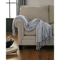 Signature Design by Ashley Throws Clarence - Light Gray Throw