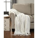 Signature Design by Ashley Throws Clarence - Off White Throw