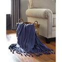 Signature Design by Ashley Throws Clarence - Navy Throw