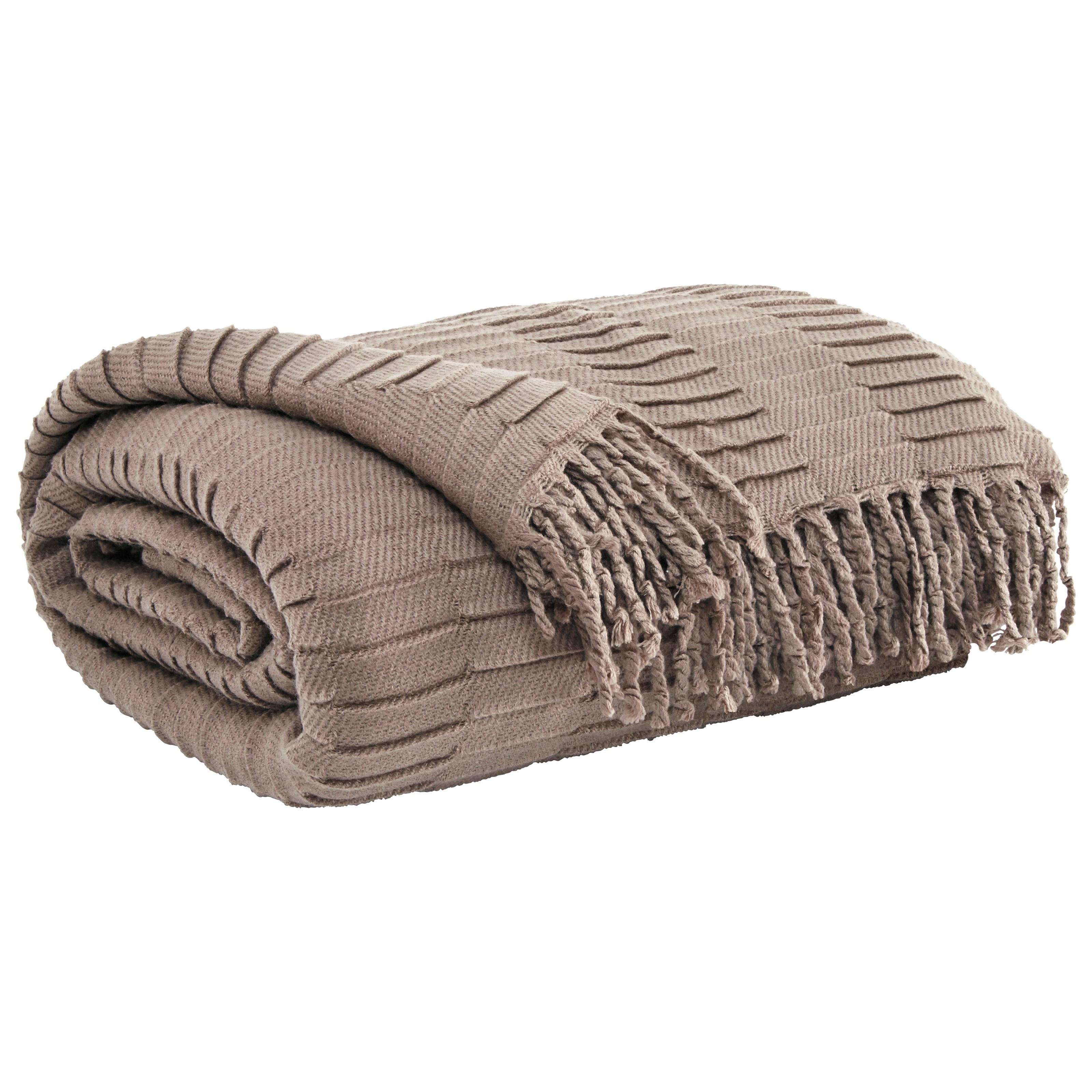 Signature Design by Ashley Throws Mendez - Taupe Throw - Item Number: A1000614T