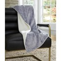 Signature Design by Ashley Throws Asaka Gray Throw