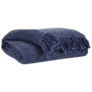 Yasmin Navy Throw