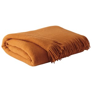 Signature Design by Ashley Throws Shiloh - Burnt Orange Throw