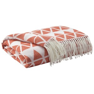 Signature Design by Ashley Throws Noemi - Burnt Orange Throw