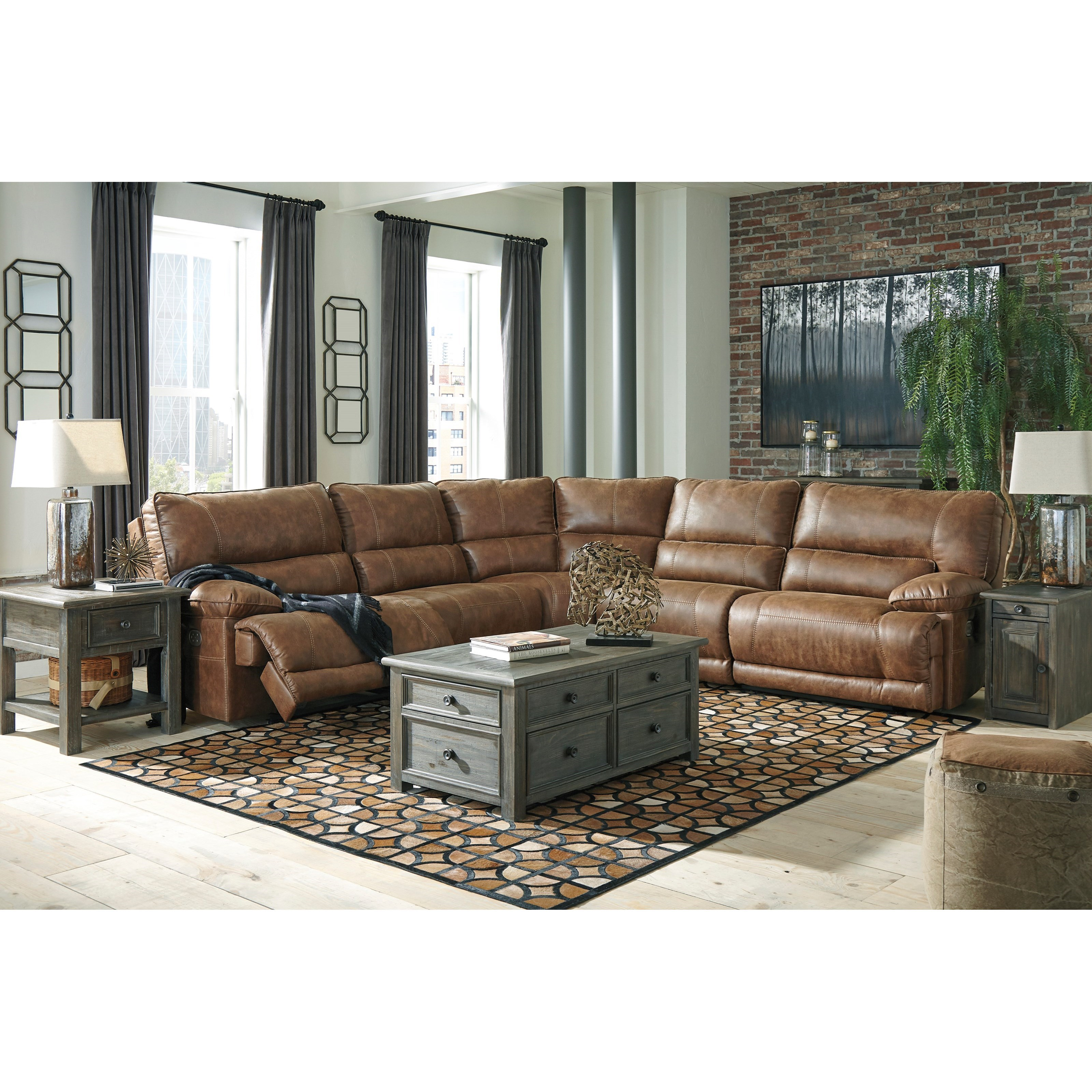 Ashley City Furniture: Signature Design By Ashley Thurles Power Reclining
