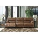 Signature Design by Ashley Thurles Power Reclining Sectional Sofa - Item Number: 5580158+46+62