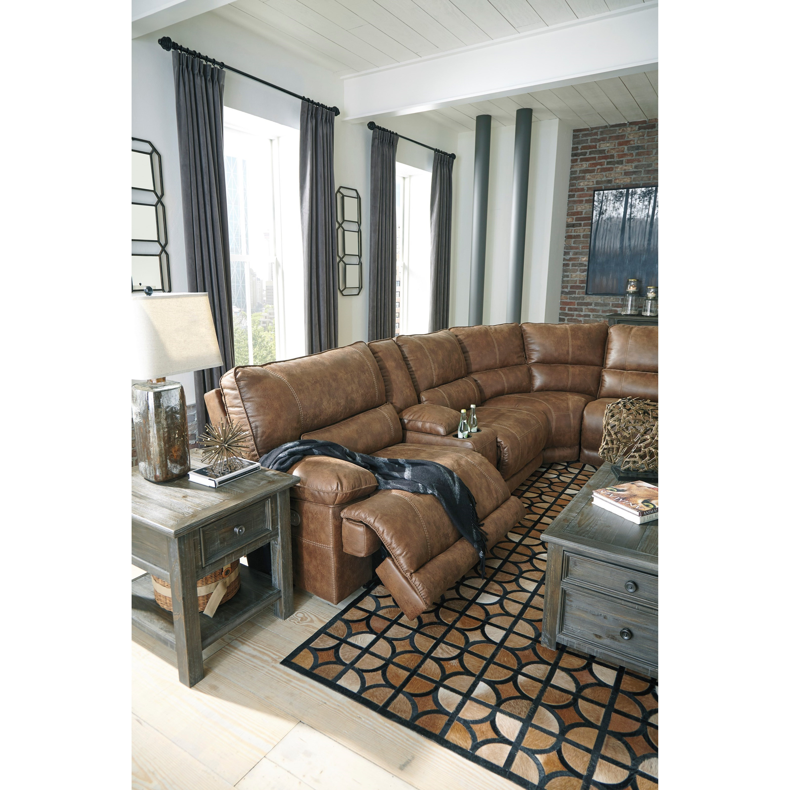 Signature Design By Ashley Thurles Power Reclining