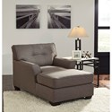 Signature Design by Ashley Tibbee Contemporary Chaise with Tufted Back and Two Arms