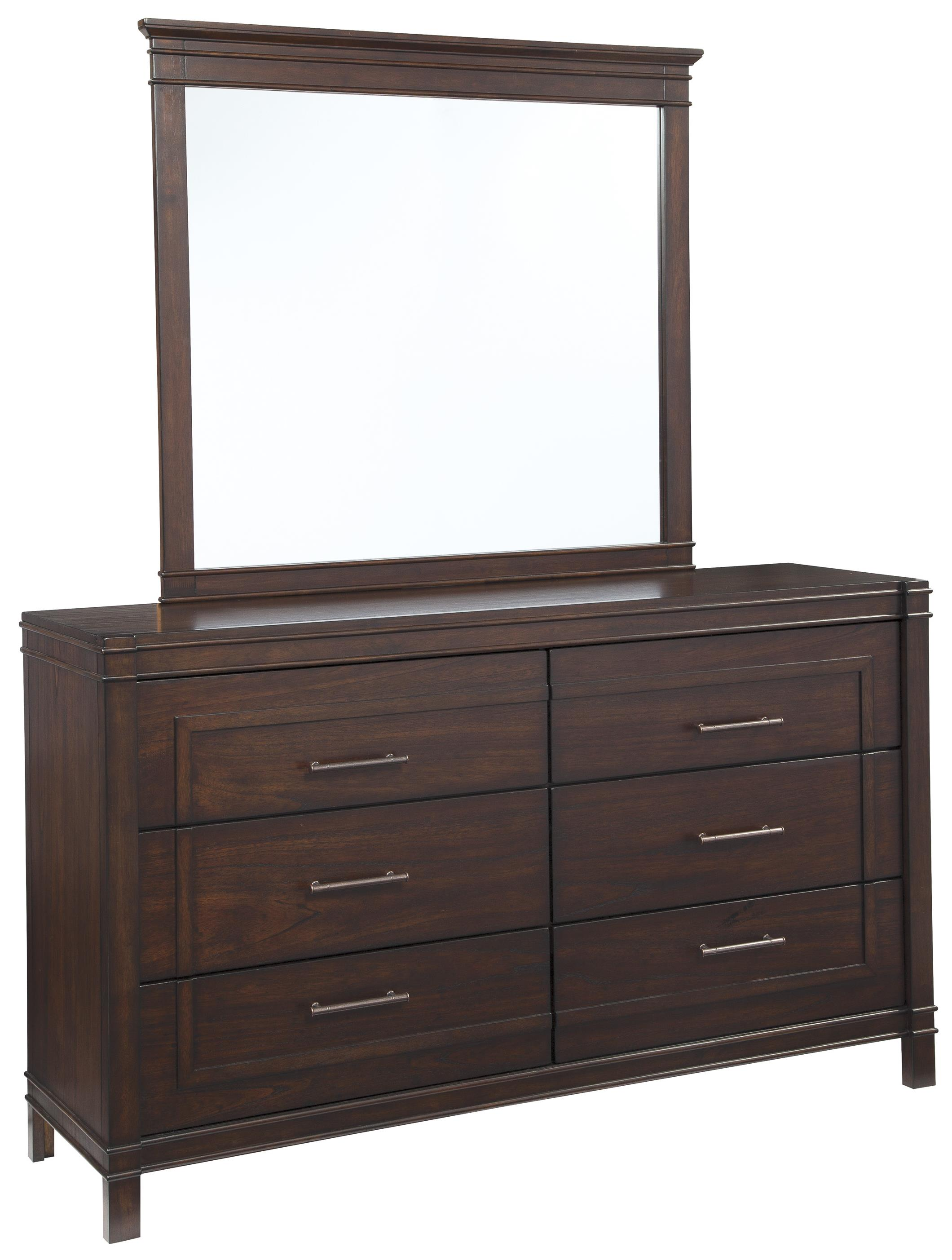 Signature Design by Ashley Timbol Dresser & Bedroom Mirror - Item Number: B508-31+36