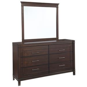 Signature Design by Ashley Timbol Dresser & Bedroom Mirror
