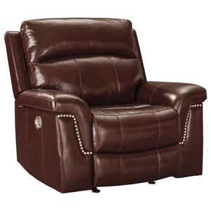 Signature Design by Ashley Timmons Power Recliner with Adjustable Headrest
