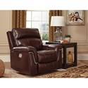 Signature Design by Ashley Timmons Casual Power Recliner with Adjustable Headrest