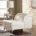 Signature Design by Ashley Tindell Contemporary Armless Chair with Adjustable Back