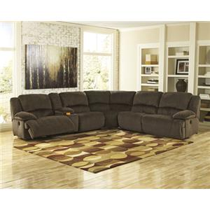 Signature Design by Ashley Toletta - Chocolate Reclining Sectional