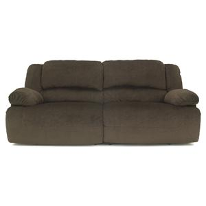 Signature Design by Ashley Toletta - Chocolate Reclining Sofa