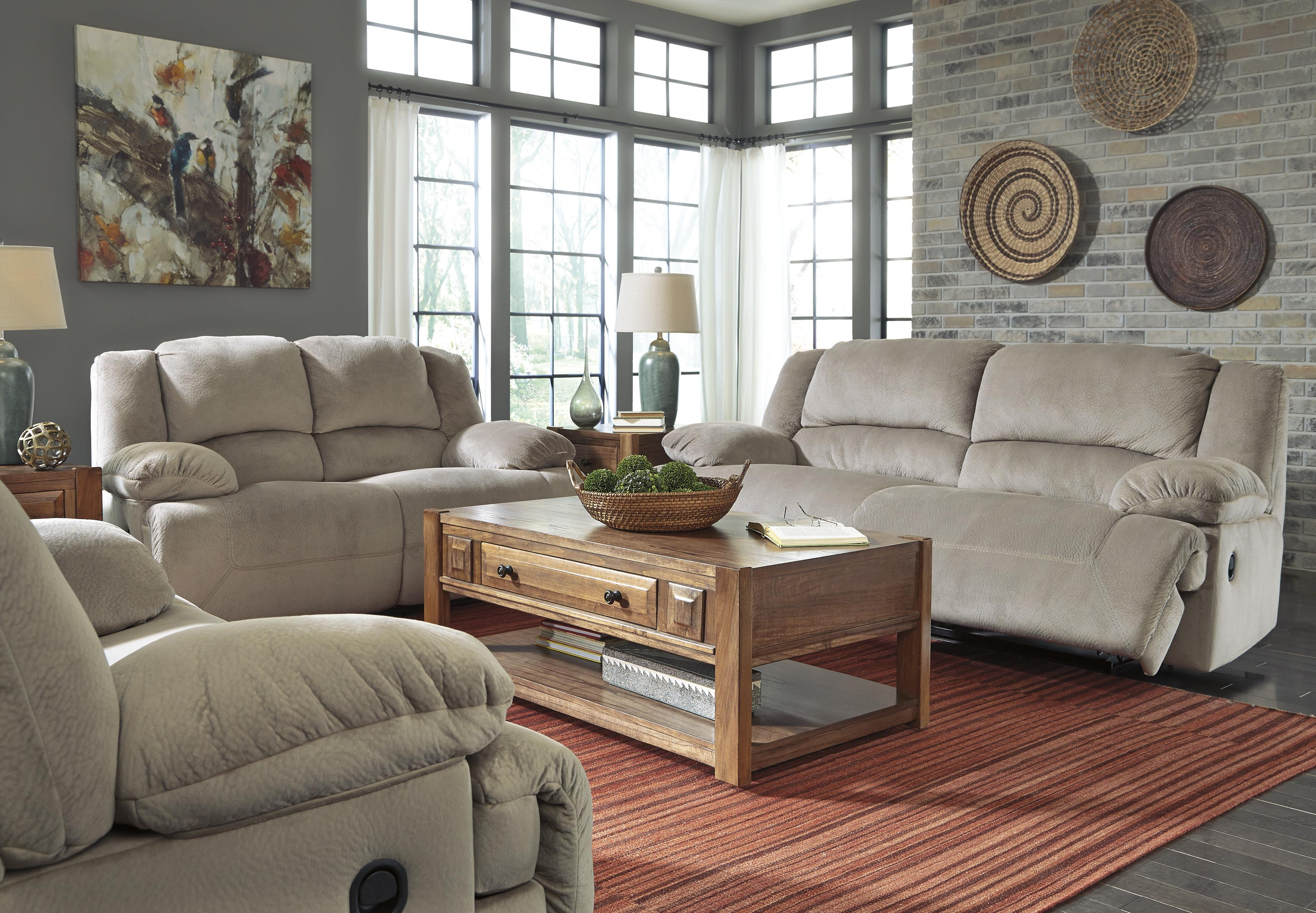 Signature Design by Ashley Toletta - Granite Reclining Living Room Group - Item Number: 56703 Living Room Group 2