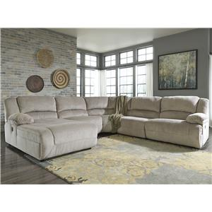 Signature Design by Ashley Toletta - Granite Reclining Sectional with Chaise