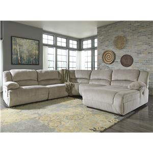 Signature Design by Ashley Toletta - Granite Power Reclining Sectional with Chaise