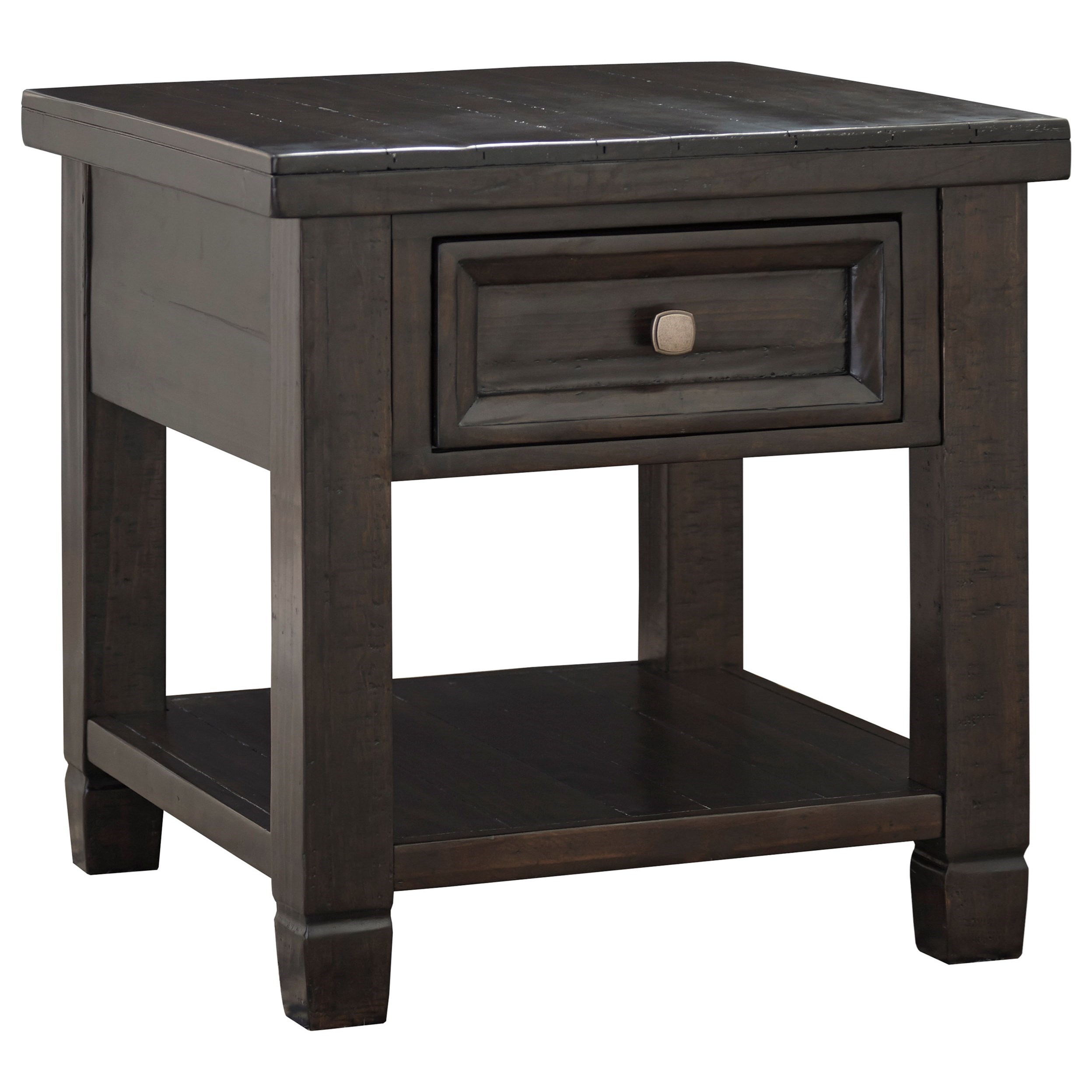 Signature Design by Ashley Townser Rectangular End Table - Item Number: T895-3