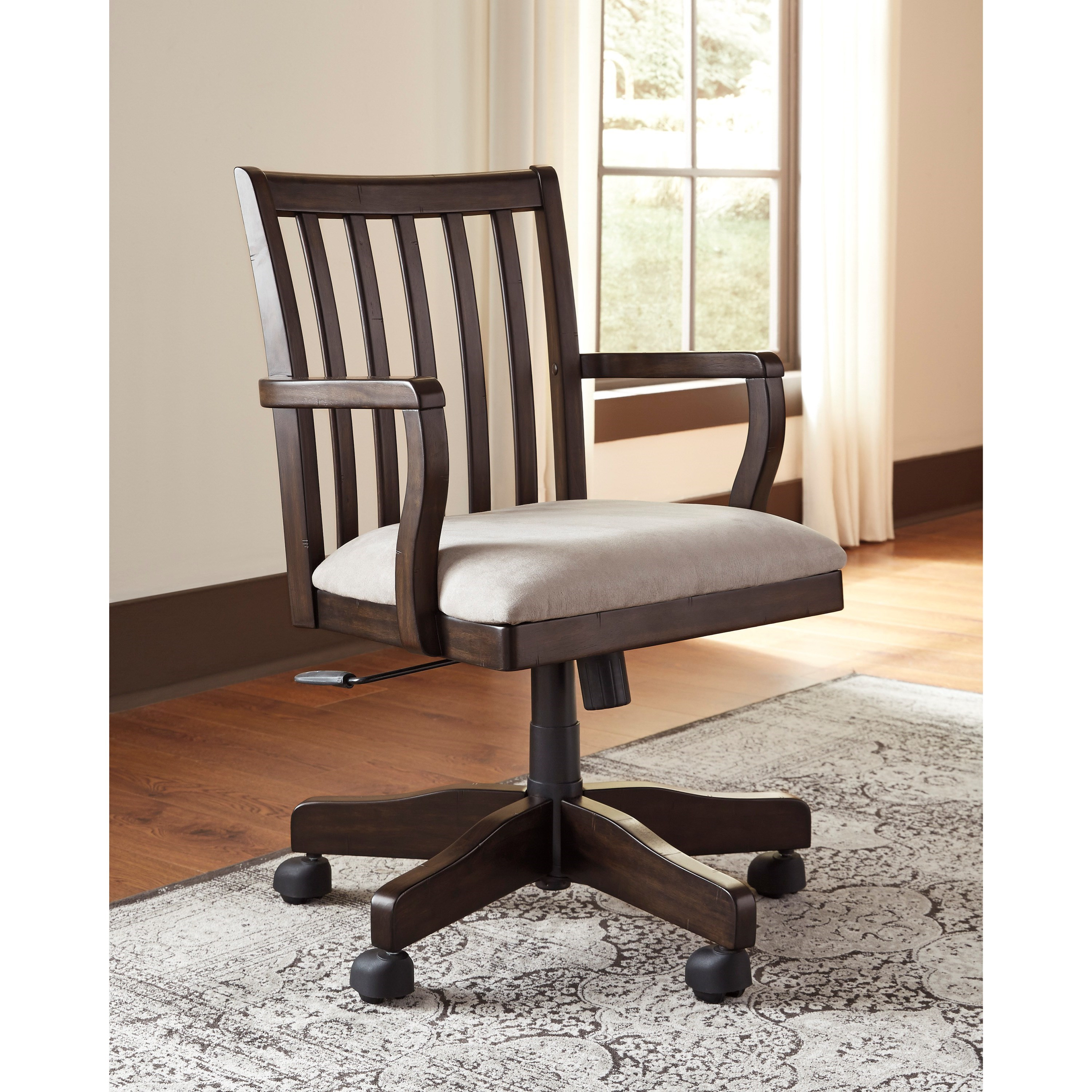 Ashley Signature Design Townser H636 01a Home Office Swivel Desk Chair Dunk Bright Furniture