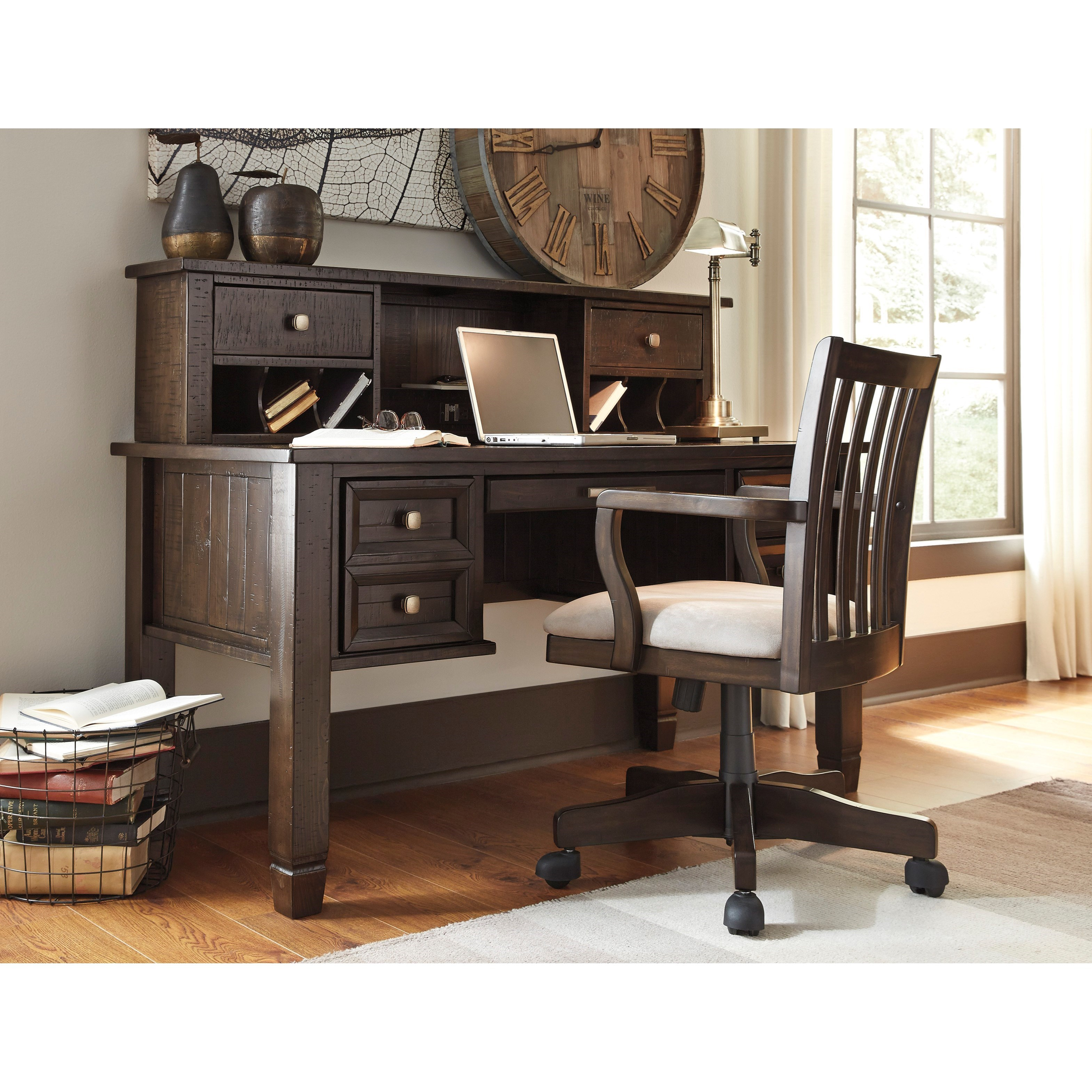 Ashley signature design townser home office swivel desk chair dunk bright furniture office - Ashley furniture office desk ...