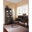 Signature Design by Ashley Townser Solid Pine Home Office Desk & Hutch with Power Strip
