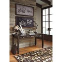 Signature Design by Ashley Townser Solid Pine Home Office Desk with 3 Drawers