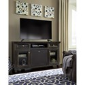Signature Design by Ashley Townser Solid Wood Pine Large TV Stand w/ Large Bluetooth Speaker