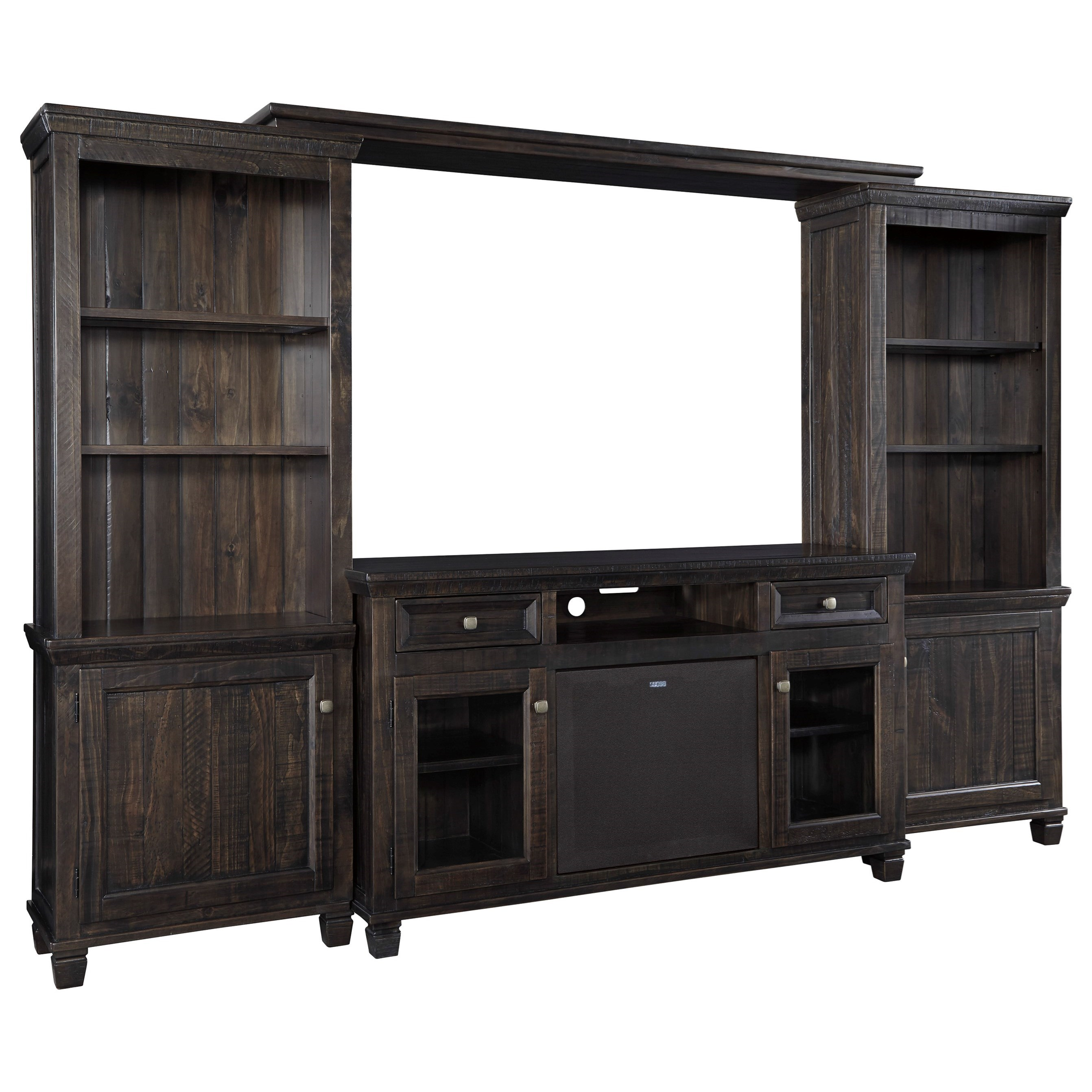 Signature Design by Ashley Townser Entertainment Center w/ Large Speaker - Item Number: W636-33+30+35+34+W100-41