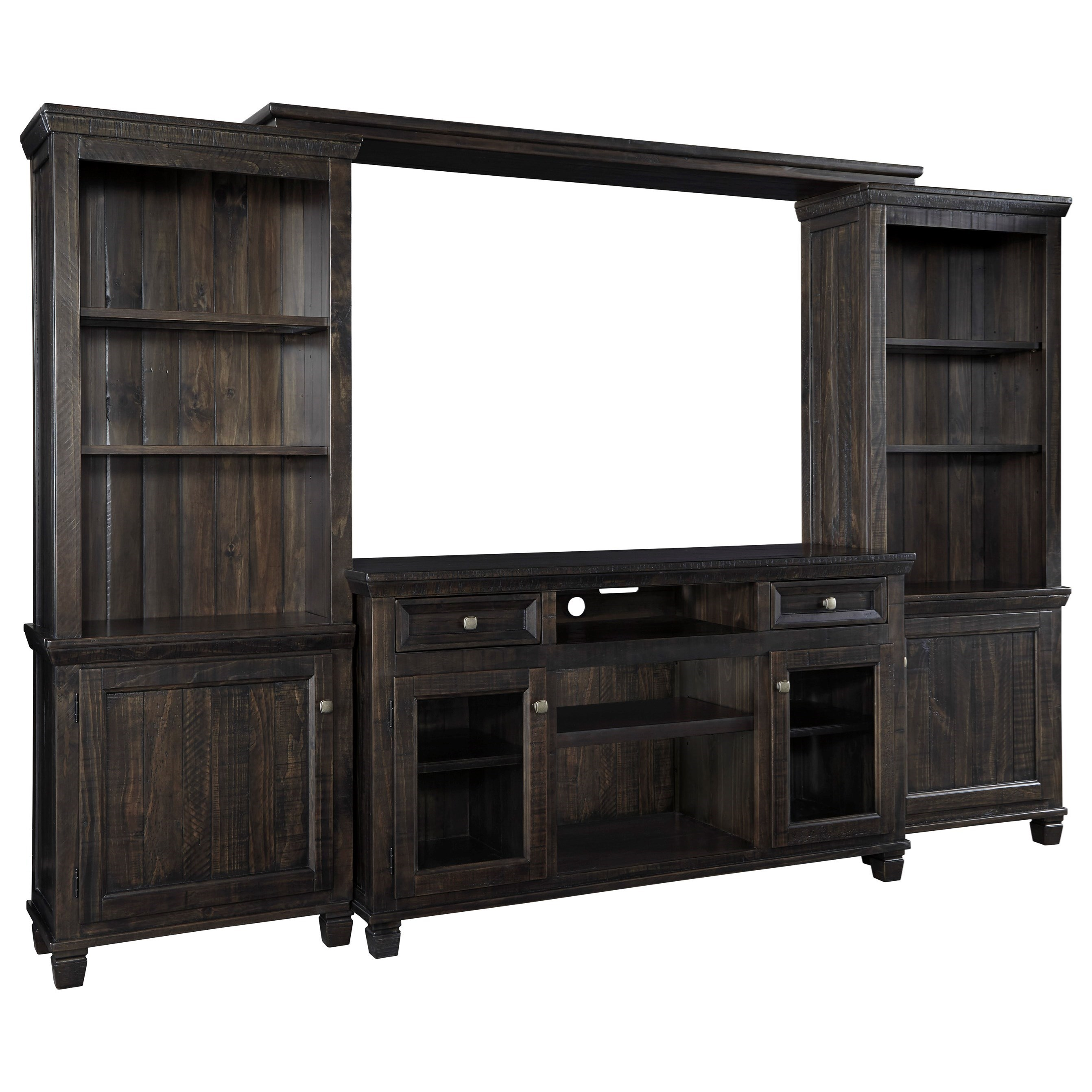 Signature Design by Ashley Townser Entertainment Center - Item Number: W636-33+30+35+34
