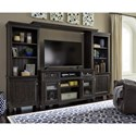 Signature Design by Ashley Townser Solid Wood Pine Entertainment Center