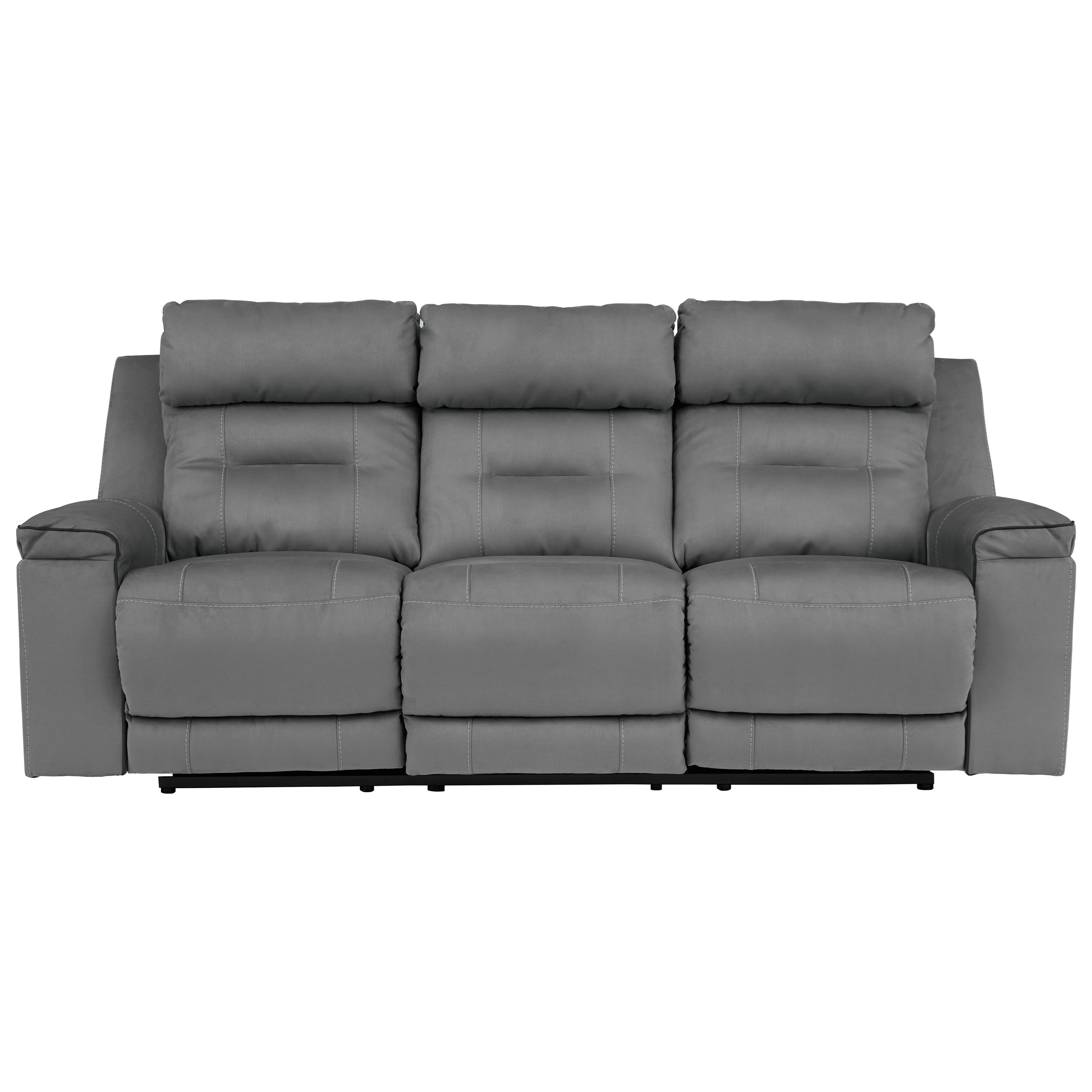 Signature Design By Ashley Trampton 3130315 Contemporary Power Reclining Sofa With Adjustable Headrests Beck S Furniture Reclining Sofas