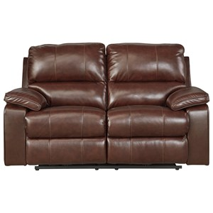 Signature Design by Ashley Transister Power Reclining Loveseat w/ Adj. Headrest