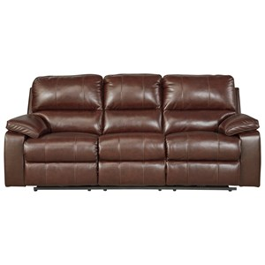 Signature Design by Ashley Transister Power Reclining Sofa w/ Adjustable Headrest