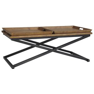 Ashley Signature Design Traxmore Rectangular Cocktail Table with 2 Trays