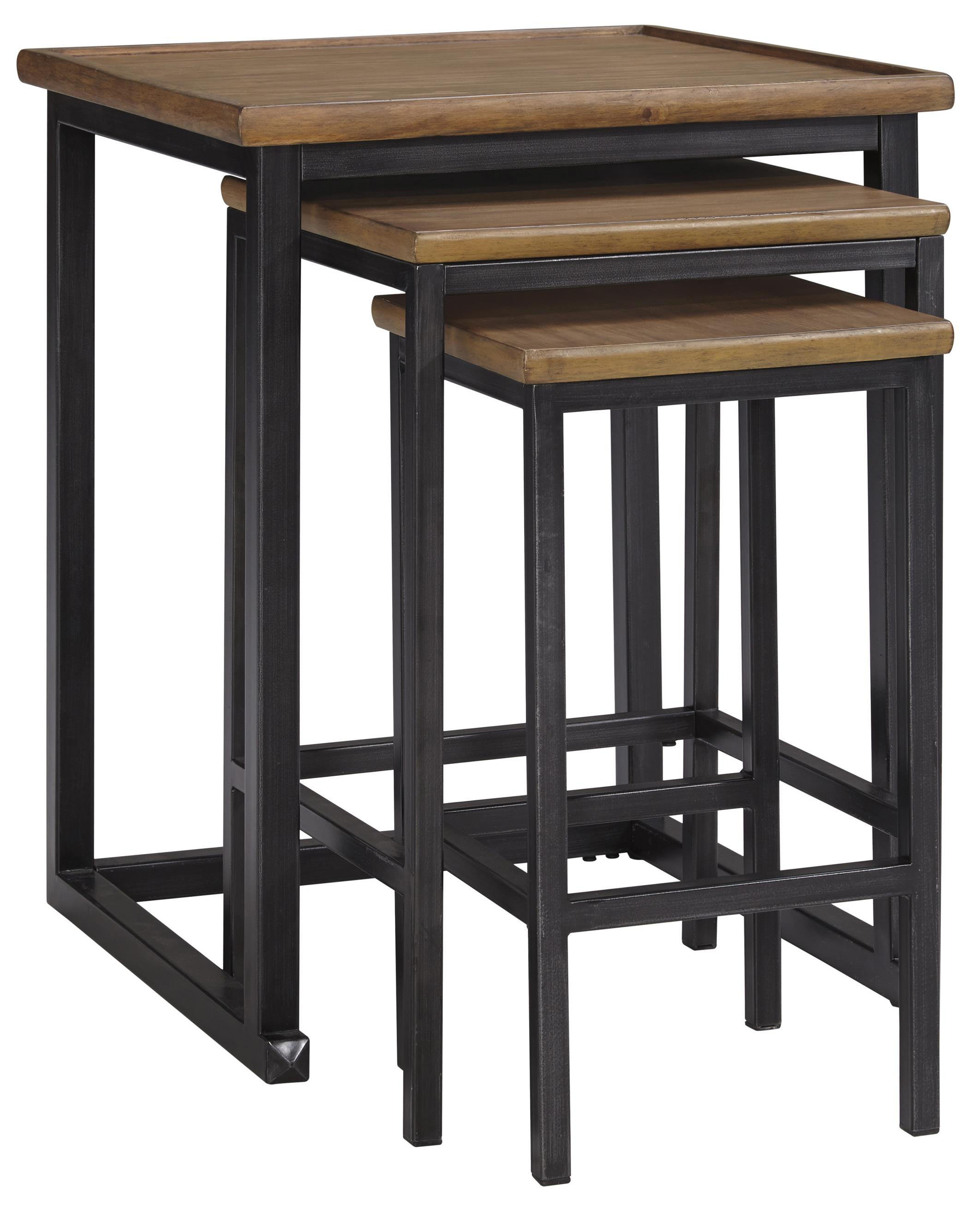 Signature Design by Ashley Traxmore Nesting End Tables - Item Number: T766-16